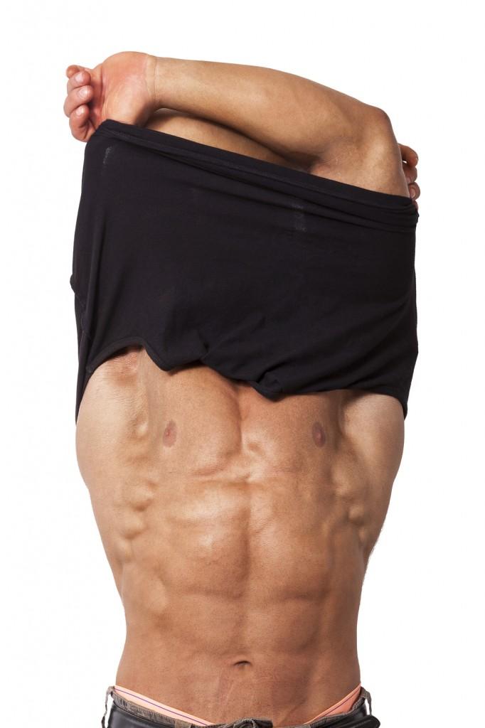 Muskelaufbau Mann mit Sixpack