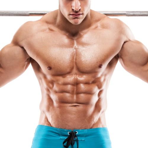 Muskelaufbau Mann