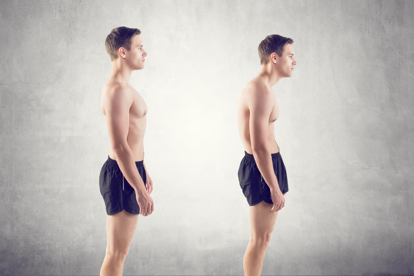 Vergleich gute und schlechte Haltung